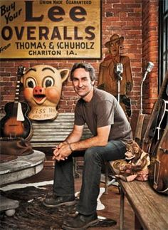 Mike Wolfe ~ Love the stuff he finds    Hope to be able to meet Mike one day...helped fuel my flame towards antiques :) Thanks Mike Wolfe