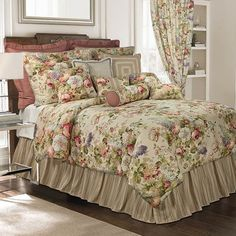 Venice King Comforter Set - Overstock™ Shopping - Great Deals on Rose Tree Comforter Sets Waverly Bedding, Comforter Sets, Chic Bedroom, Bed, Luxury Bedding, Bedroom Decor, Beautiful Bedrooms, Home Decor, Bedding Collections