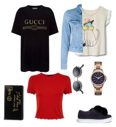 """Untitled #947"" by georgina2610 on Polyvore featuring Sam Edelman, Acne Studios, Armani Exchange, Gucci and Yves Saint Laurent"
