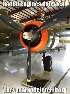 Radial engines mark their territory! #aviationhumor #radialengines…