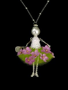 Ellies Belle: Alana French doll pendant by ElliesBelles on Etsy