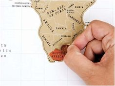 A map you scratch off as you visit the countries!