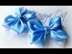 Стильный бант из лент МК/ DIY Stylish Bow of Ribbon - YouTube