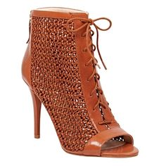 """✨NIB✨ Nine West Daiquiri Bootie Brown Leather New inbox! Fun booties by Nine West. Lace up booties with open toe. Back zip for easy on and off. Size 7, true to size. 3.75"""" heel.***No Trades, Price Firm unless bundled*** Nine West Shoes Ankle Boots & Booties"""