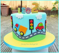 car cake Best cars cake for boys trucks ideas Truck Birthday Cakes, Truck Cakes, 2nd Birthday Cake Boy, Baby Boy Birthday Themes, Birthday Ideas, Bolo Blaze, Car Cakes For Boys, Boy Cakes, Christening Cake Boy