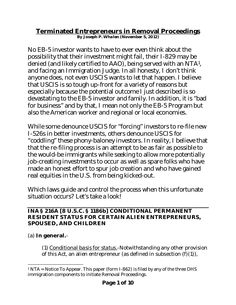terminated-entrepreneurs-in-removal-proceedings-15023973 by Joseph  Whalen via Slideshare