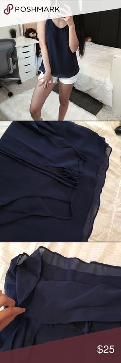 """[F R E E] Navy Blue Tank Top • boutique  • very Dainty and simple • perfect for layering   > Size Reference: 5""""3, 105 lb, 34A, XS/S, 0-2, Waist 25  Get this for FREE! Bundle $50+ worth of items to get this for free! How? Simply add all the items you want including this item and make an offer to get this for free! Offers are welcome! :) One free item per purchase. If you need any help or have any questions, just ask! My prices are very negotiable unless stated otherwise. Please use the offer…"""