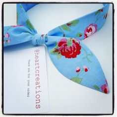 Ladies Floral Headband Hairband Headwrap by AtHeartCreations
