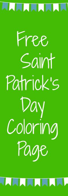 FREE St. Patrick's Day activity page from Green Apple Lessons!