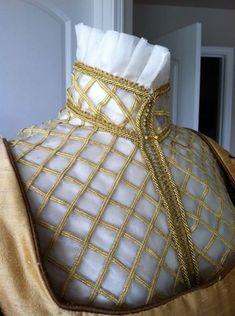 Elizabethan Costume Silk Organza UnderPartlet by DesignsFromTime, $198.00