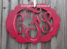 3 letter wood monogram with the lettering by EverythingWhimsical2, $75.00