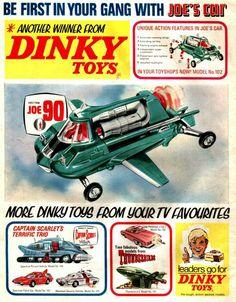Dinky Toys ads - Sci Fi toys
