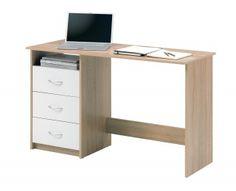 Bureau droit - ADRIA - chêne/blanc TOP OFFICE 59,99 euros 120X76X50