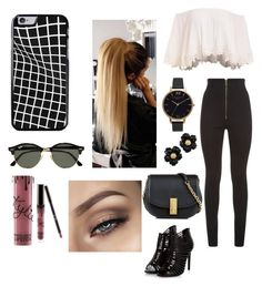 """""""Untitled #233"""" by jasmineedwards709 on Polyvore featuring Balmain, Marc Jacobs, Olivia Burton, Kylie Cosmetics and Ray-Ban"""