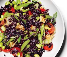 Black Rice Salad with Lemon Vinaigrette Recipe - made it tonight and is now part of the mandatory summer rotation