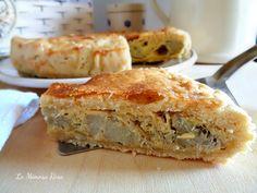 Torta salata ai carciofi di zia Rosa, una deliziosa pasta frolla ripiena di squisiti e morbidissimi carciofi e formaggio.