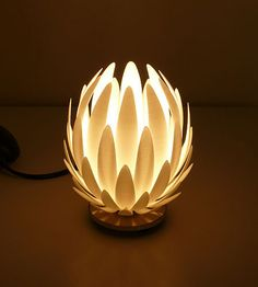 Beautiful 3D printed lamp from www.mgxbymaterialise.com