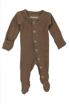 25aa2192869 Baby - Take Me Home Outfit - Footed Overall - Bark