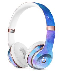 Teal to Pink 434 Absorbed Watercolor Texture Full-Body Skin Kit for the Beats by Dre Solo 3 Wireless Headphones – Galaxy Art Beats By Dre, Cute Headphones, Wireless Headphones, Running Headphones, Accessoires Iphone, Things To Buy, Stuff To Buy, Teal, Purple