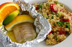 Mona's Kjøkkenskriverier: Nydelig sitrusbakt torsk med couscous-salat (bytt ut couscous med hirse for lav FODMAP)