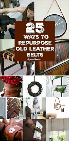 25 Creative Ways To Repurpose And Reuse Old Leather Belts {Curated and Created by DIYnCrafts Team} via @vanessacrafting