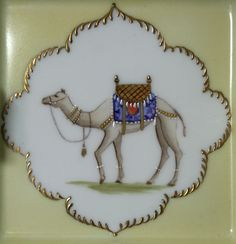 Camel painted inside and palm trees in relief over the border Madhubani Art, The Good Shepherd, Buddha Art, Ornaments Design, Camels, Animal Paintings, Crockery Set, Decoration, Miniatures