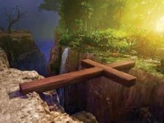 as an idea: This is EASTER: Jesus bridged the gap between God and us. (maybe less cheesy? :) )