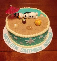 10 Superb Disney Frozen Olaf party Ideas for Kids Kit kat cakes
