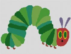Hungry Caterpillar: Noun & Adjective Identification and sorting activities packThis resource uses the book The Hungry Caterpillar by Eric Carle and to help students to identify nouns, adjectives and noun groups (adjectives and nouns used together). Eric Carle, Caterpillar Toys, Very Hungry Caterpillar, Crochet Crafts, Crochet Projects, Crochet Ideas, Knit Crochet, Cross Stitch Embroidery, Cross Stitch Patterns