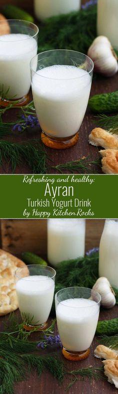 Super refreshing and healthy Ayran (Turkish yogurt drink) recipe ready in 5…