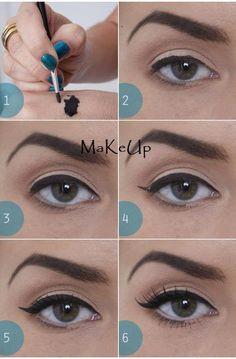 Top lid eyeliner and mascara