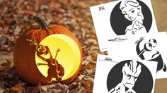 We made printable pumpkin carving templates from kids' favorite movies, because someone had to