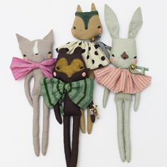Image of LULU RABBIT Fabric Doll  by Abigail Brown
