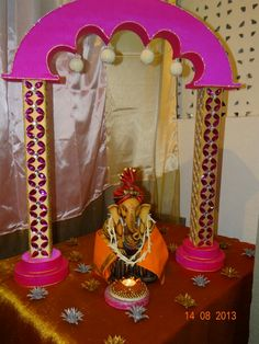 Decoration For Ganpati, Table Lamp, Ideas, Home Decor, Lamp Table, Interior Design, Home Interior Design, Home Decoration, Decoration Home