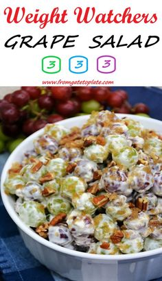 Grape Salad, Healthy Eating Recipes, Delicious Recipes, Healthy Food, Summer Side Dishes, Unique Recipes, Easy Recipes, Ethnic Recipes, How To Make Salad