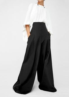 High-waist palazzo trousers -  Women | MANGO USA
