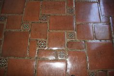 mexican tile bathroom | Decorative Tiles As Inserts in Terracotta Clay Pavers, Mexican Home ...