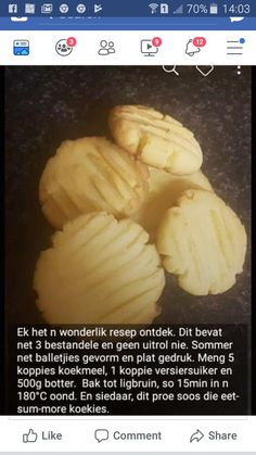 Delicious Cookie Recipes, Fun Baking Recipes, Sweet Recipes, Yummy Food, Angle Food Cake Recipes, Dessert Recipes, Homemade Flour Tortillas, Tea Cookies, South African Recipes