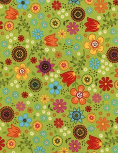 1-yard-Folk-Song-Floral-Timeless-Treasures-100-Cotton-Quilt-Fabric