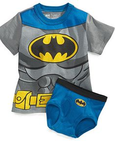 Handcraft Kids Set, Toddler Boys Batman T-Shirt and Underwear - Kids Toddler Boys (2T-5T) - Macy's
