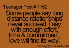 it's true loves.also true with time not just distance...true love will fnd a way