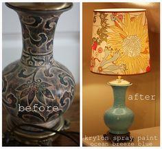 beautiful painted lamp