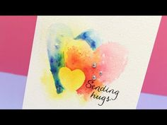 Negative Painting - Lasting Hearts Bloghop - YouTube Sandy Allnock