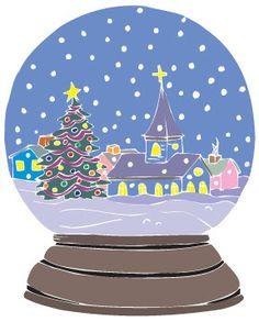 snow globe clipart | Christmas Tree Snow Globe Clip Art