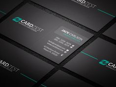 Dark  Bold Corporate Business Card Template Download  Http