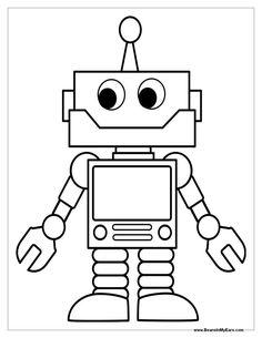 Okul öncesi Robot Boyama Sayfaları Okul öncesi Etkinlik