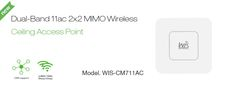WIS-CM711AC - Enterprise 1167Mbps 802.11ac Ceiling or Wall Mount Indoor WI-FI Network Access Point - Ovios