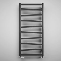 Crosswater Wedge Designer Heated Towel Rail - Metallic Black Matte - 1096 x Bauhaus Wedge Designer Heated Towel Rail Radiator – Metallic Black Matte – 1096 x Black Towel Rail, Black Towels, Heated Towel Bar, Electric Towel Rail, Bathroom Towel Rails, Bathroom Radiators, White Bathroom Accessories, Towel Radiator, Towel Warmer