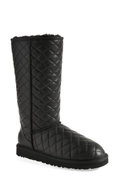 UGG® Australia 'Classic - Tall' Diamond Quilted Boot (Women) available at #Nordstrom