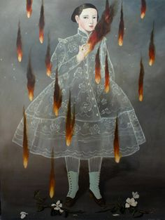 Smoke and Fire, 2015. Anne Siems. Acrylic paint